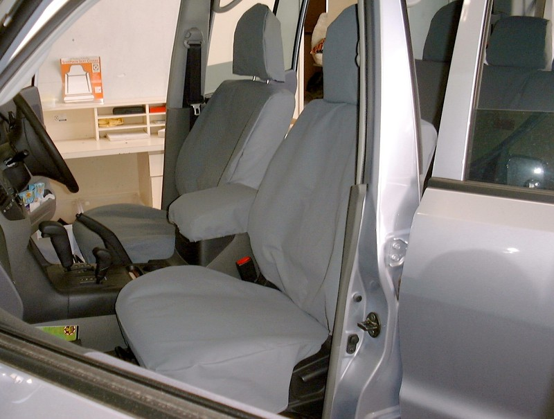 Image of Canvas Seat Covers - Front Seats Pair