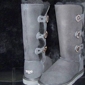 High Classic Eva 3 Button Ugg Boots Black