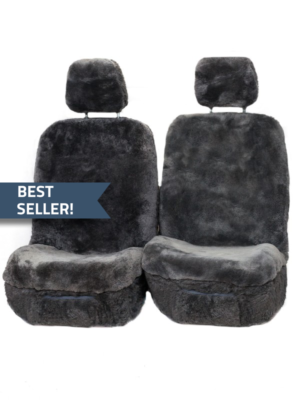 Diamond-33mm-Size-30-With-Seperate-Head-Rests-6-Star-Airbag-Compatible-Sheepskin-Seat-Covers-Graphite-best-seller