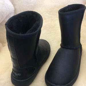 Low Boots Ugg Bowa Heavy Duty Soles Nappa Leather Black Water Resistant