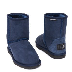 Low Ugg Boots Eva Classic Sole Electric Dark Blue