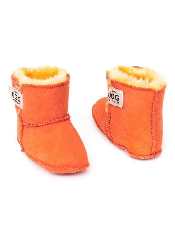 Baby Booties Orange