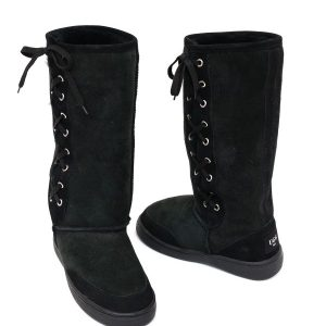 Lace Up Ugg Boots Bowa Heavy Duty Sole Black