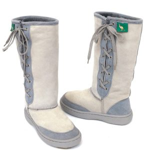 Lace Up Ugg Boots Bowa Heavy Duty Sole Grey